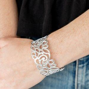 Victorian Gardens White Cuff Bracelet
